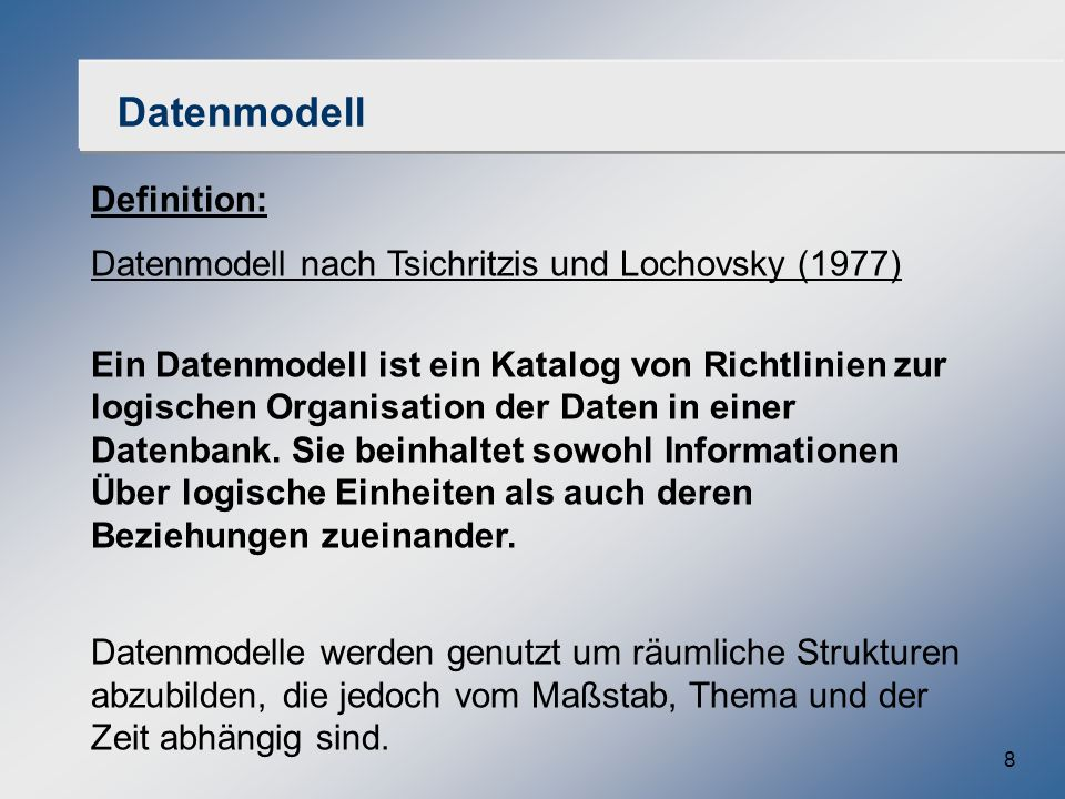 Datenmodell Definition: