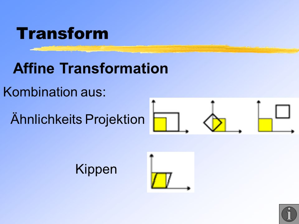 Transform Affine Transformation Kombination aus: