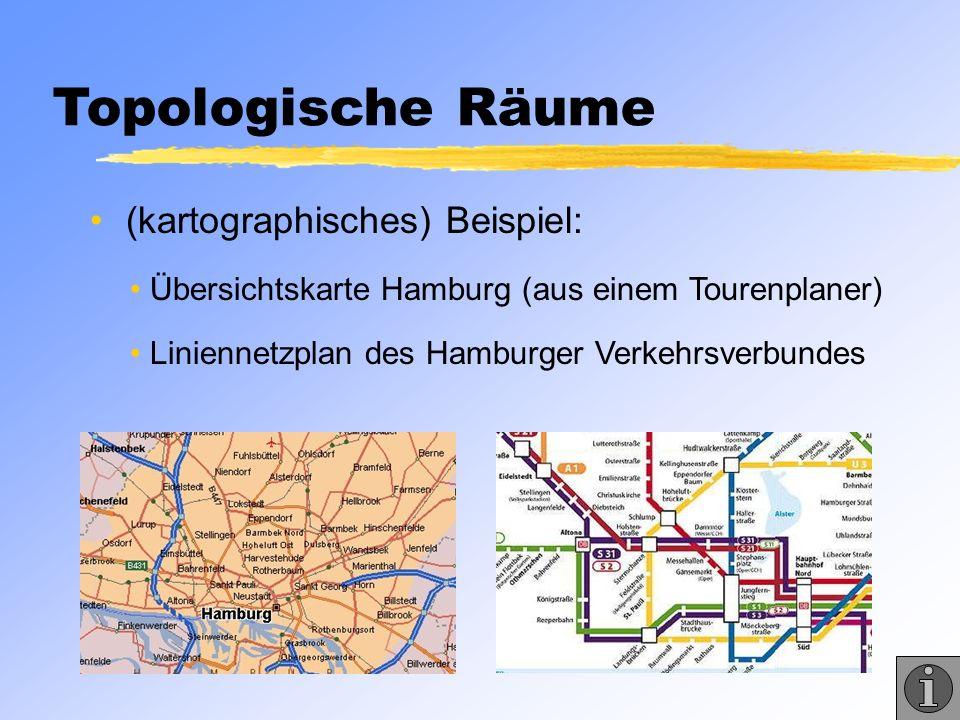 Topologische Räume (kartographisches) Beispiel: