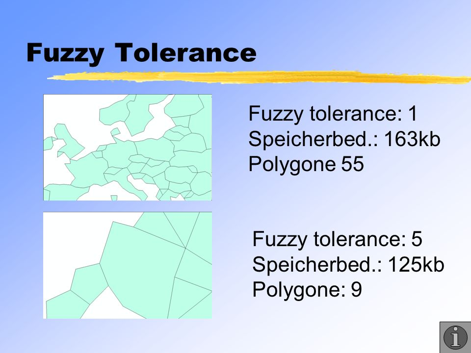 Fuzzy Tolerance Fuzzy tolerance: 1 Speicherbed.: 163kb Polygone 55