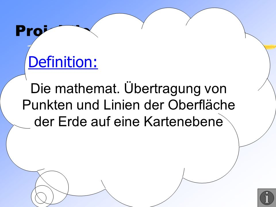 Was sind Projektionen Projektionen Definition: