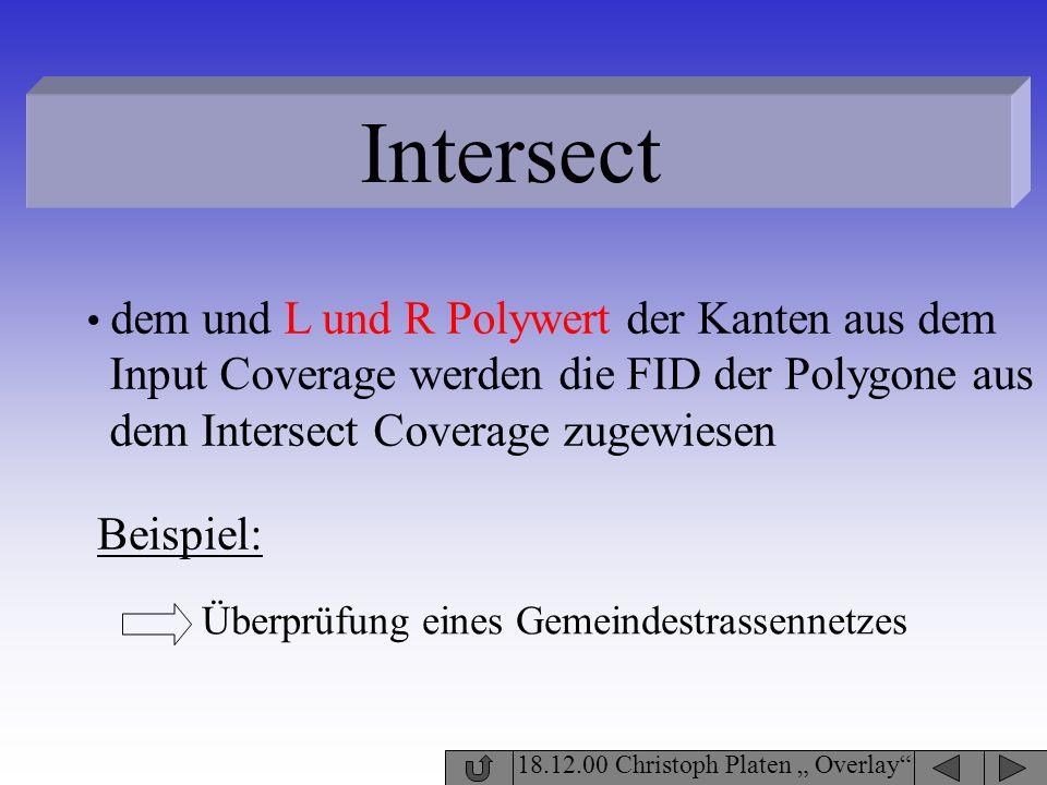 Intersect Input Coverage werden die FID der Polygone aus