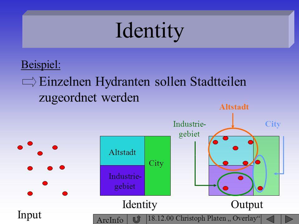 Identity Einzelnen Hydranten sollen Stadtteilen zugeordnet werden