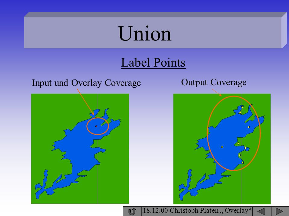 Union Label Points Input und Overlay Coverage Output Coverage