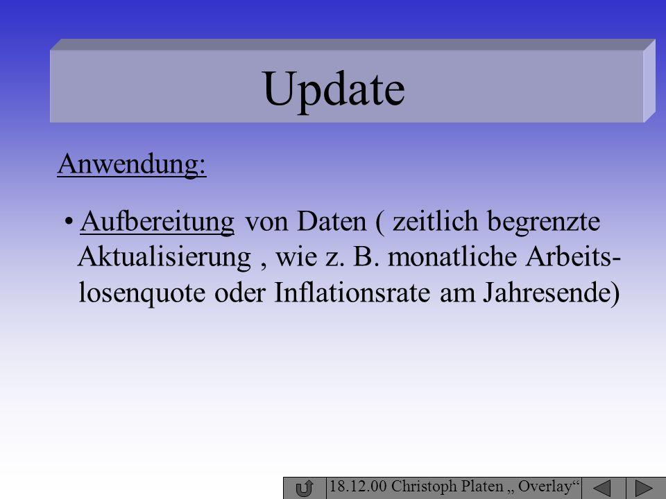 Update Anwendung: Aufbereitung von Daten ( zeitlich begrenzte