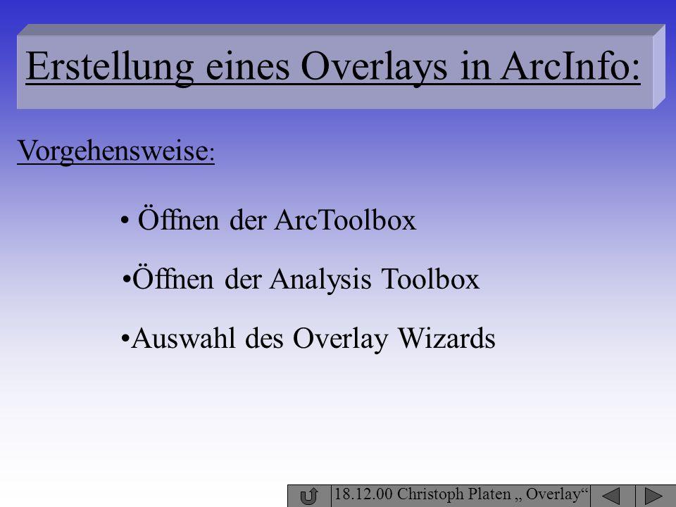 Erstellung eines Overlays in ArcInfo:
