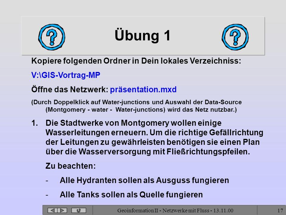 Geoinformation II - Netzwerke mit Fluss - 13.11.00