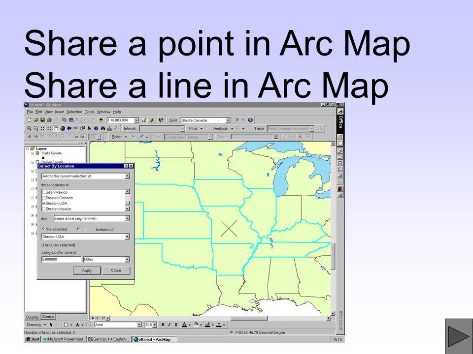 Share a point in Arc Map Share a line in Arc Map
