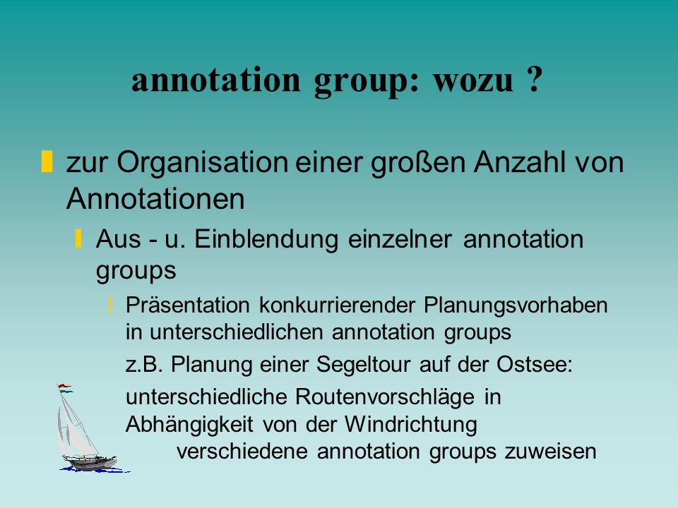 annotation group: wozu