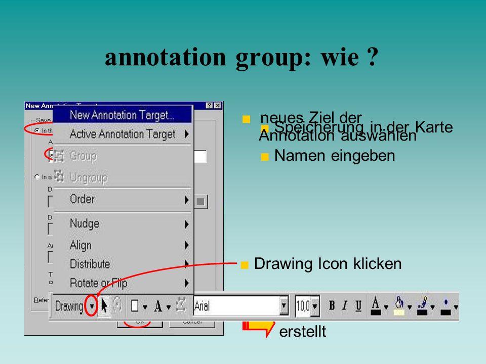 annotation group: wie neues Ziel der Annotation auswählen