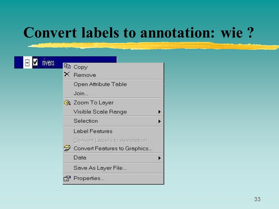 Convert labels to annotation: wie