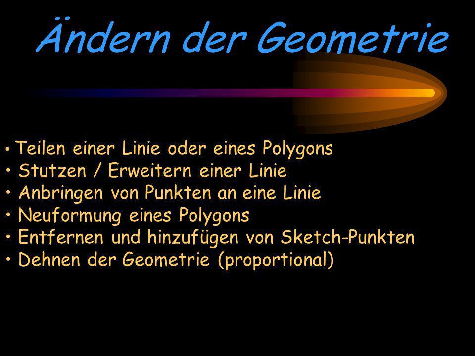 Ändern der Geometrie Stutzen / Erweitern einer Linie