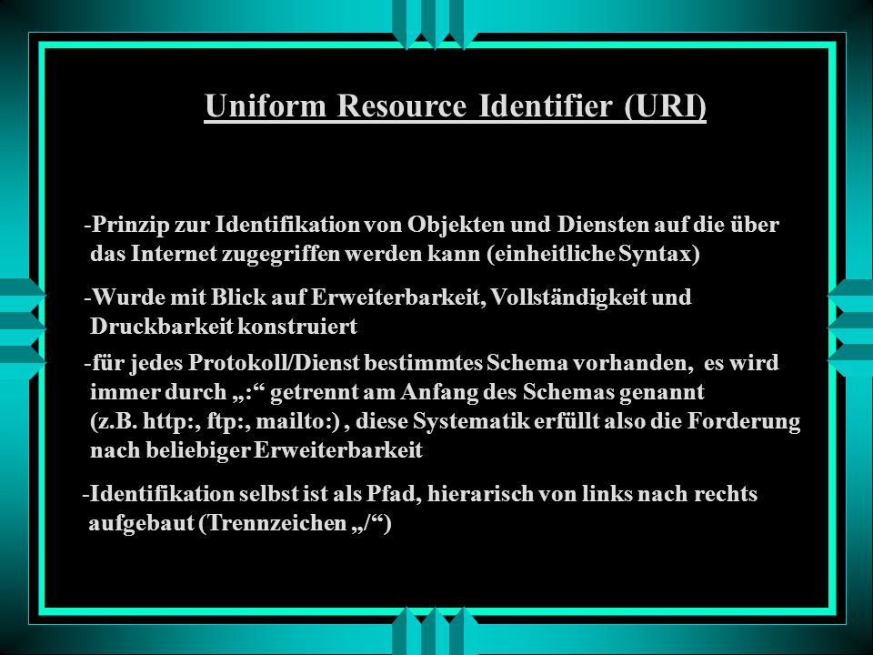 Uniform Resource Identifier (URI)