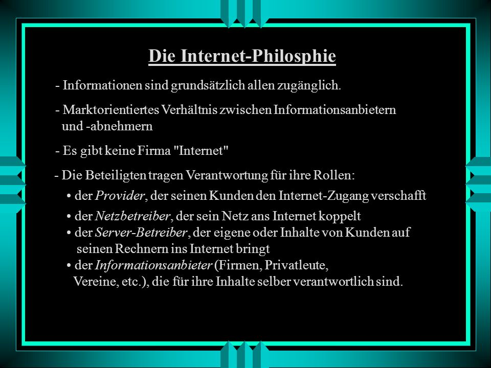 Die Internet-Philosphie
