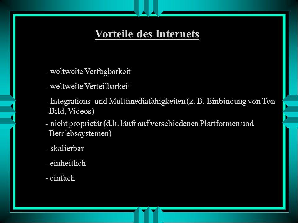 Vorteile des Internets