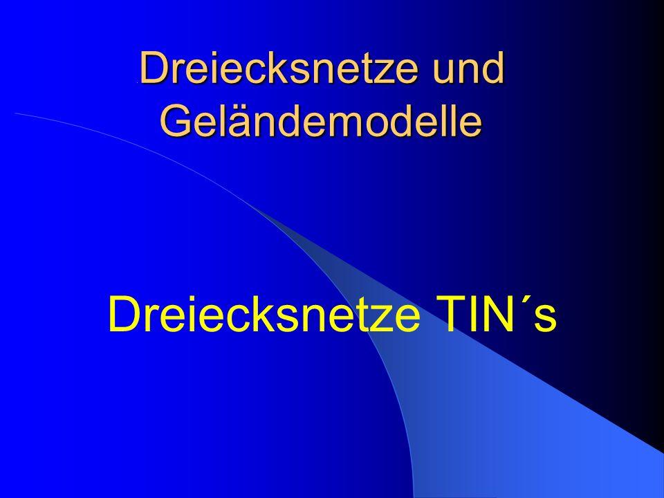 .Dreiecksnetze und Geländemodelle