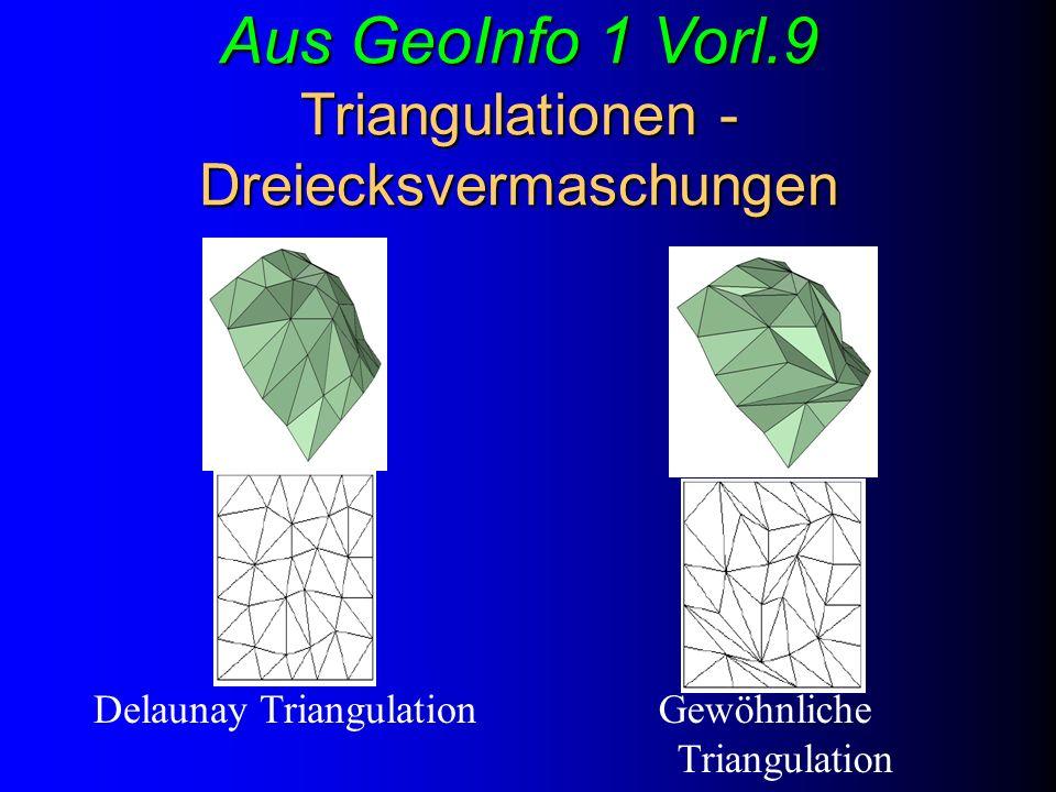 Aus GeoInfo 1 Vorl.9 Triangulationen - Dreiecksvermaschungen