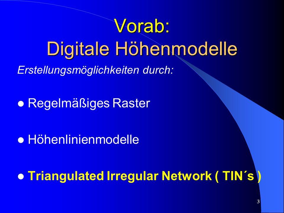 Vorab: Digitale Höhenmodelle