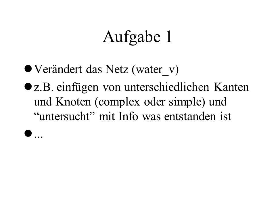 Aufgabe 1 Verändert das Netz (water_v)