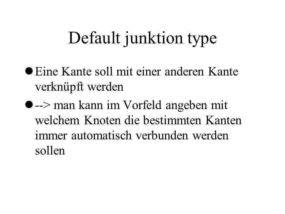 Default junktion type Eine Kante soll mit einer anderen Kante verknüpft werden.