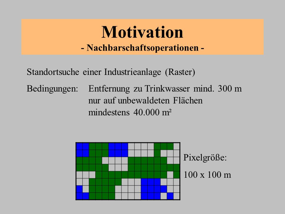 Motivation - Nachbarschaftsoperationen -