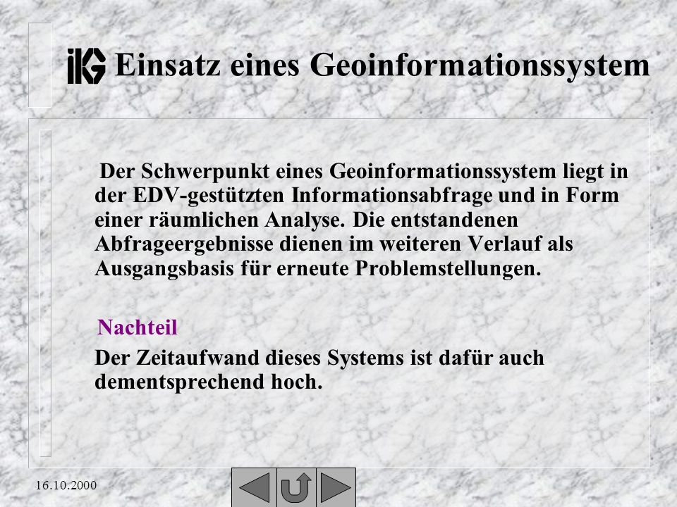 Einsatz eines Geoinformationssystem