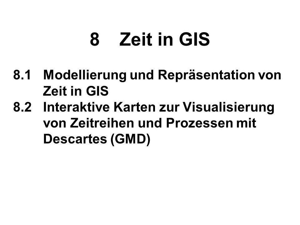 8 Zeit in GIS 8.1 Modellierung und Repräsentation von Zeit in GIS