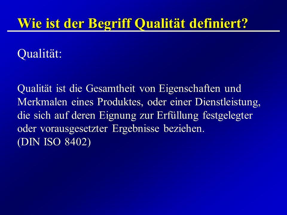 Wie ist der Begriff Qualität definiert