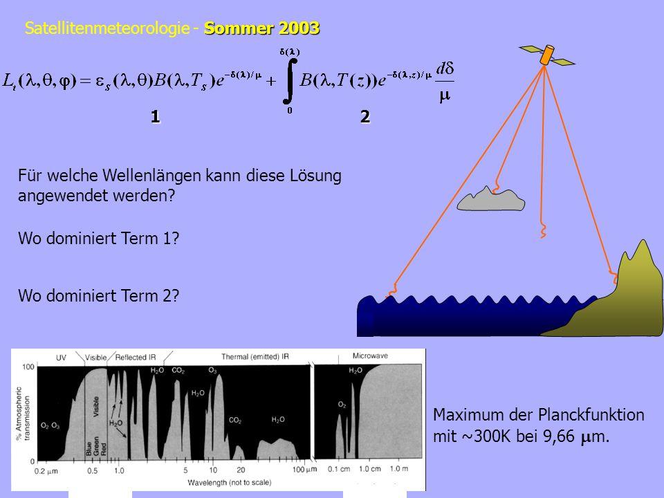 1 2. Für welche Wellenlängen kann diese Lösung. angewendet werden Wo dominiert Term 1 Wo dominiert Term 2