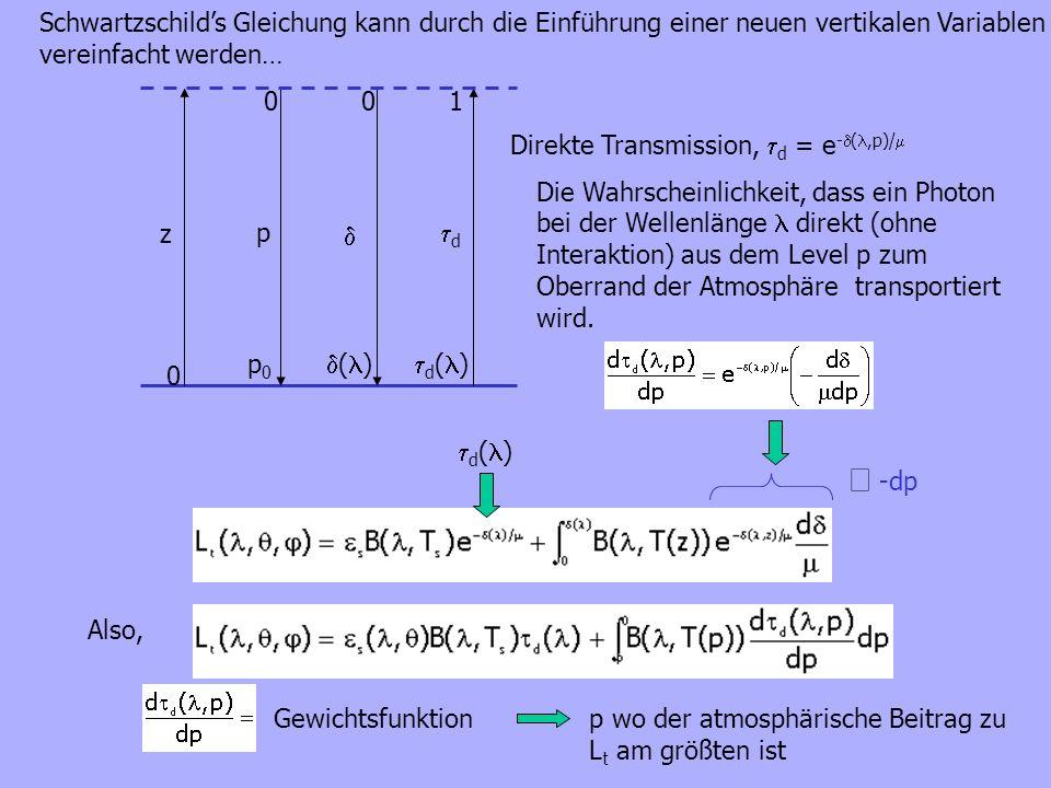 Schwartzschild's Gleichung kann durch die Einführung einer neuen vertikalen Variablen