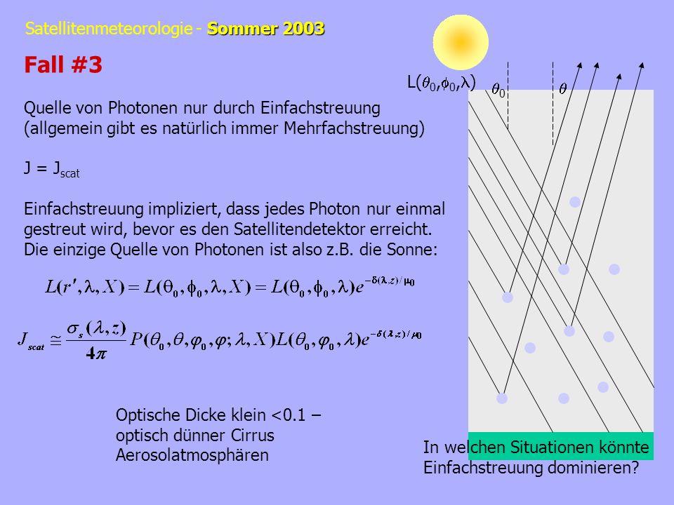 Fall #3 Quelle von Photonen nur durch Einfachstreuung