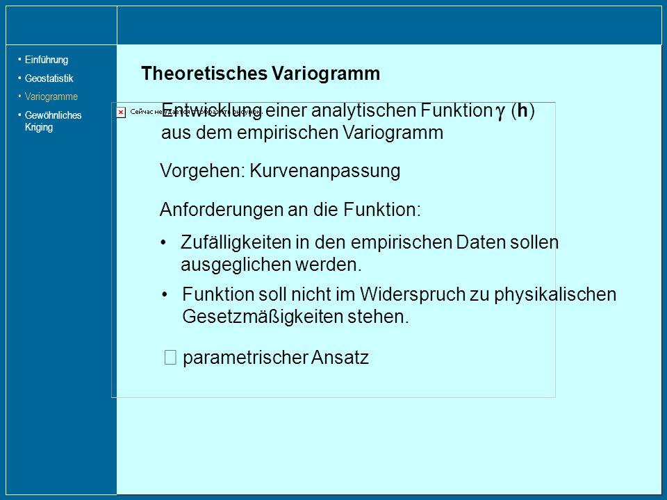 Þ parametrischer Ansatz