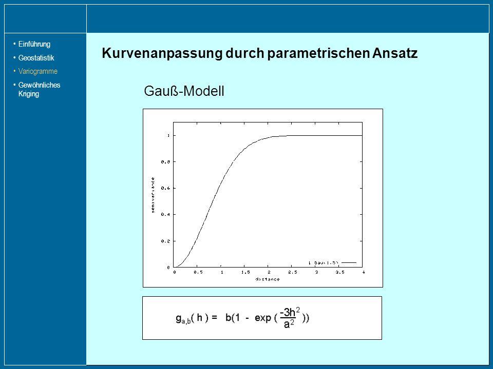 Kurvenanpassung durch parametrischen Ansatz