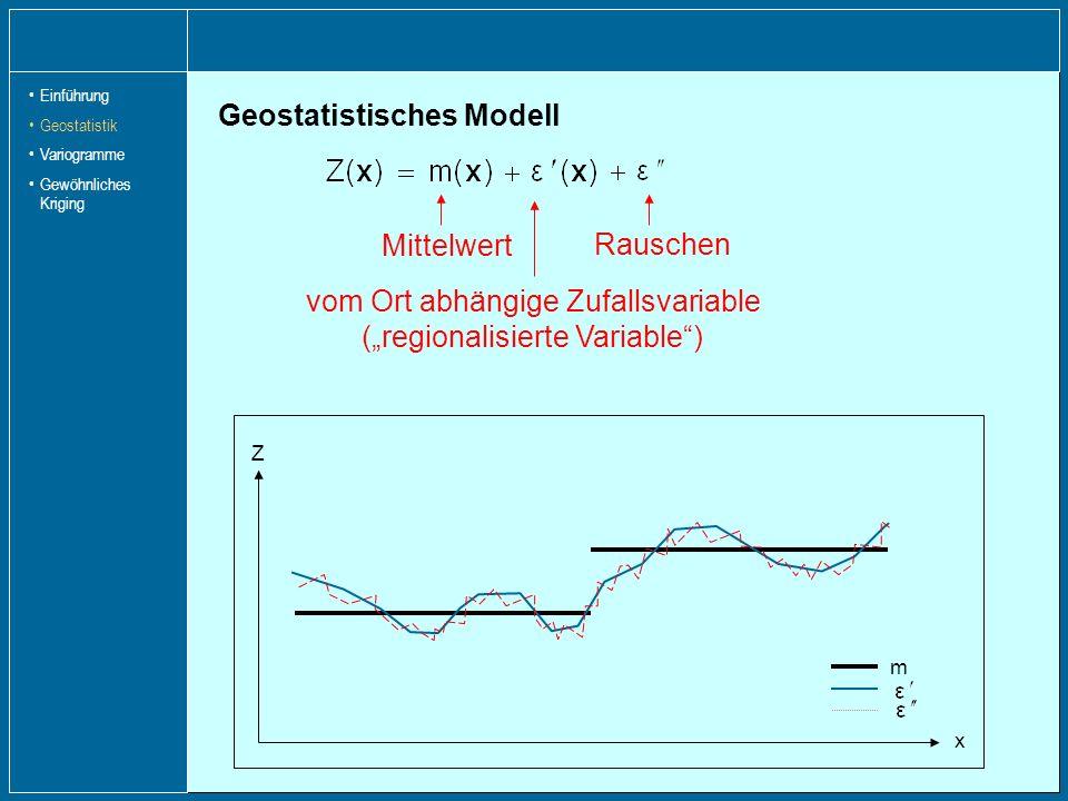 Geostatistisches Modell