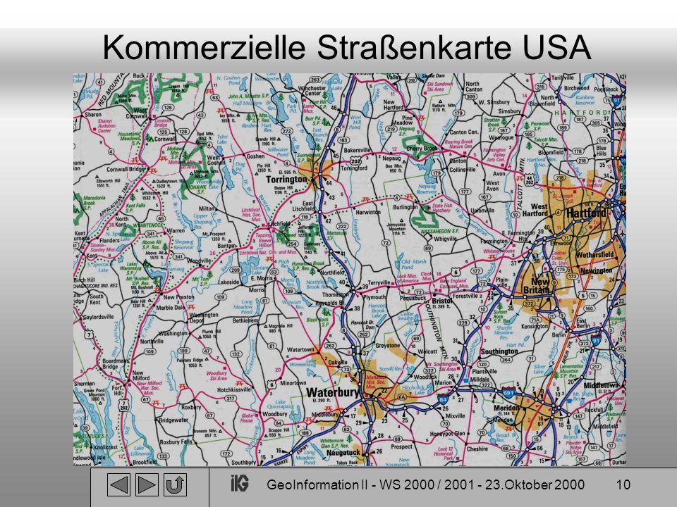 Kommerzielle Straßenkarte USA