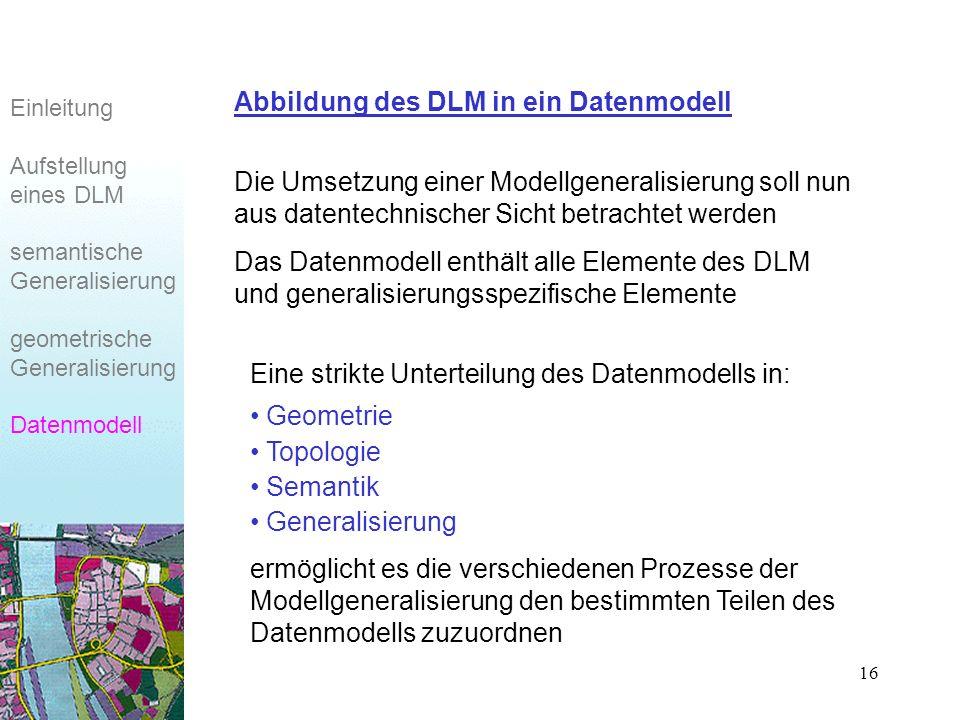 Abbildung des DLM in ein Datenmodell