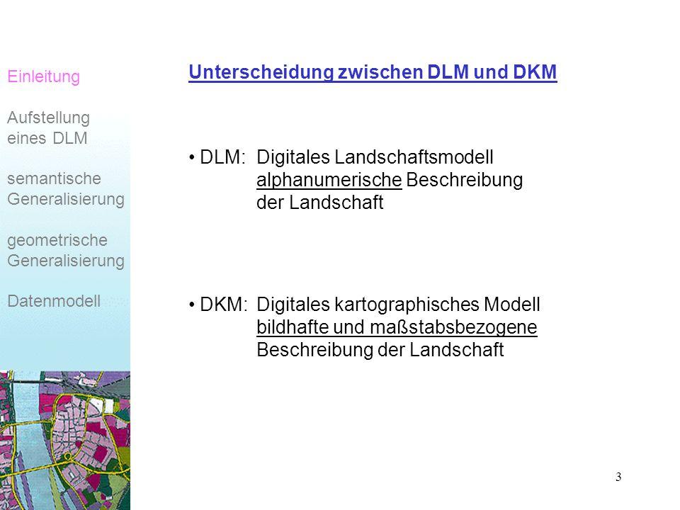Unterscheidung zwischen DLM und DKM