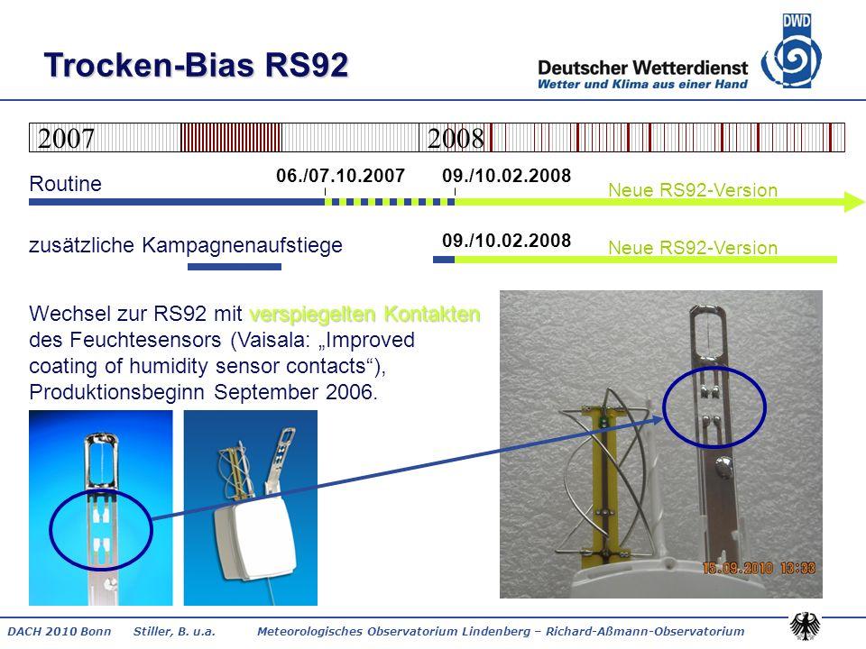 Trocken-Bias RS92 2007. 2008. 06./07.10.2007 09./10.02.2008.