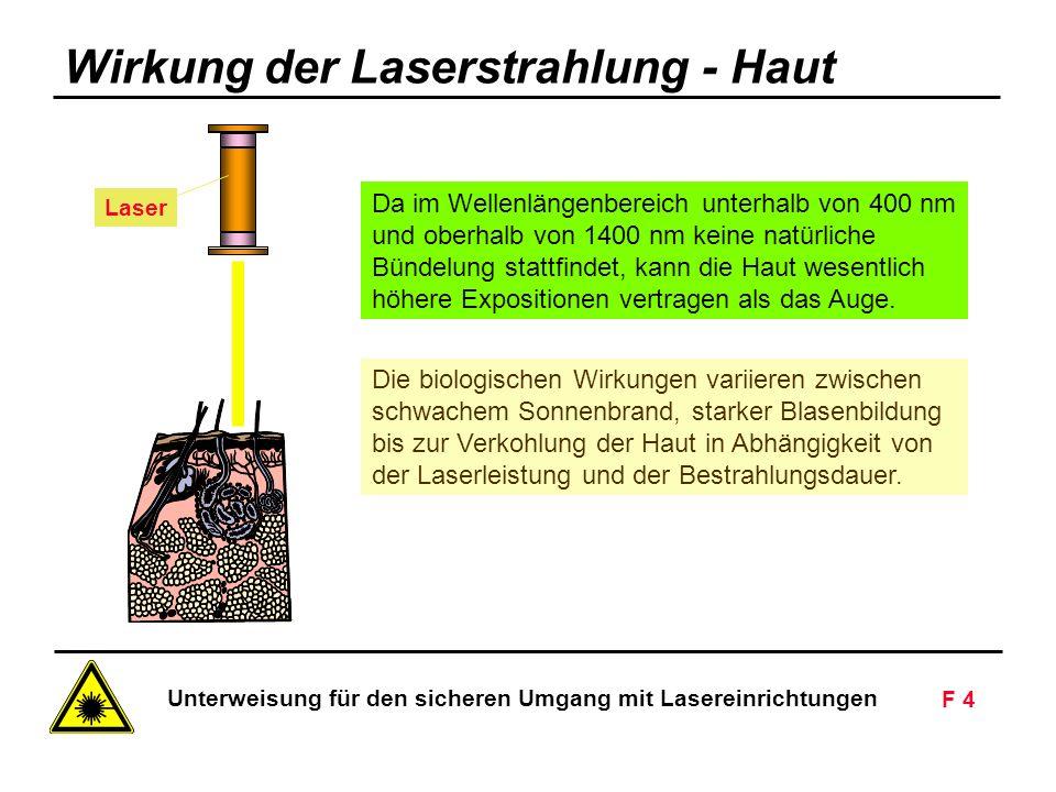 Wirkung der Laserstrahlung - Haut