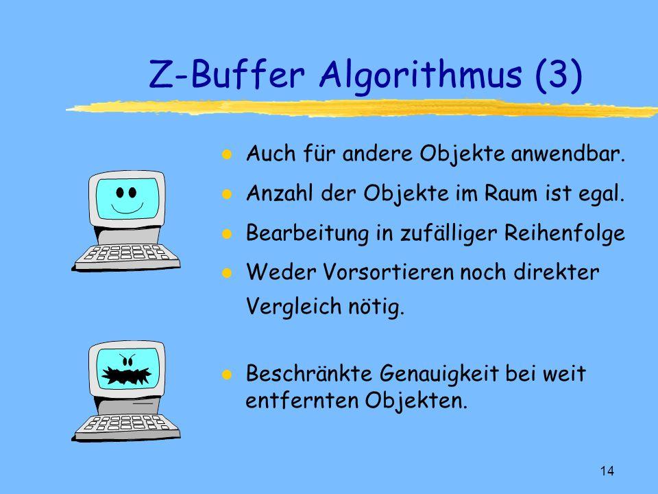 Z-Buffer Algorithmus (3)