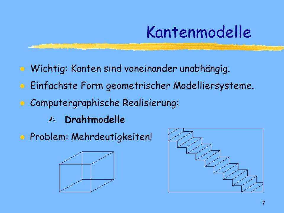 Kantenmodelle Wichtig: Kanten sind voneinander unabhängig.