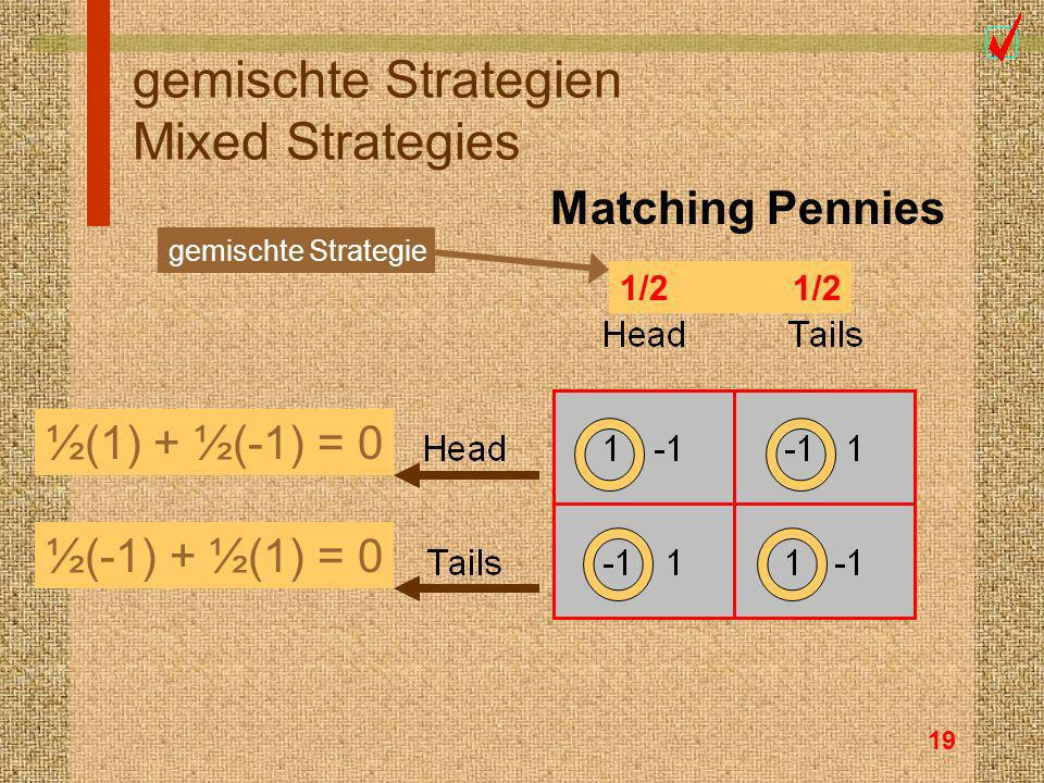 gemischte Strategien Mixed Strategies