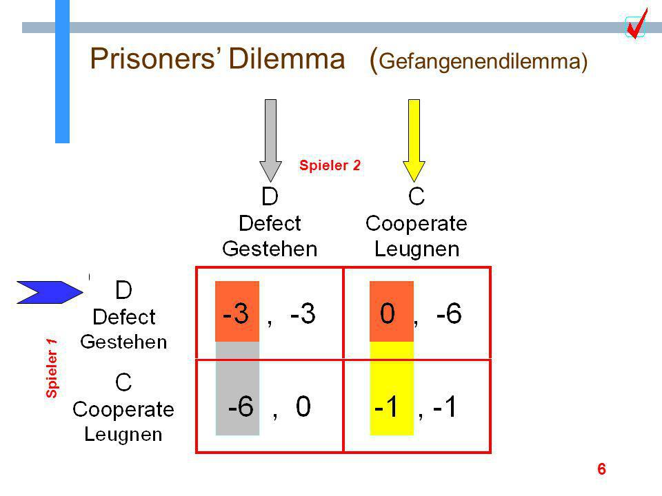 Prisoners' Dilemma (Gefangenendilemma)