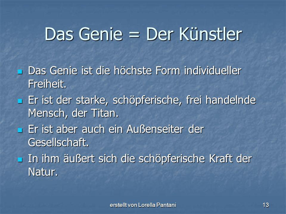 Das Genie = Der Künstler