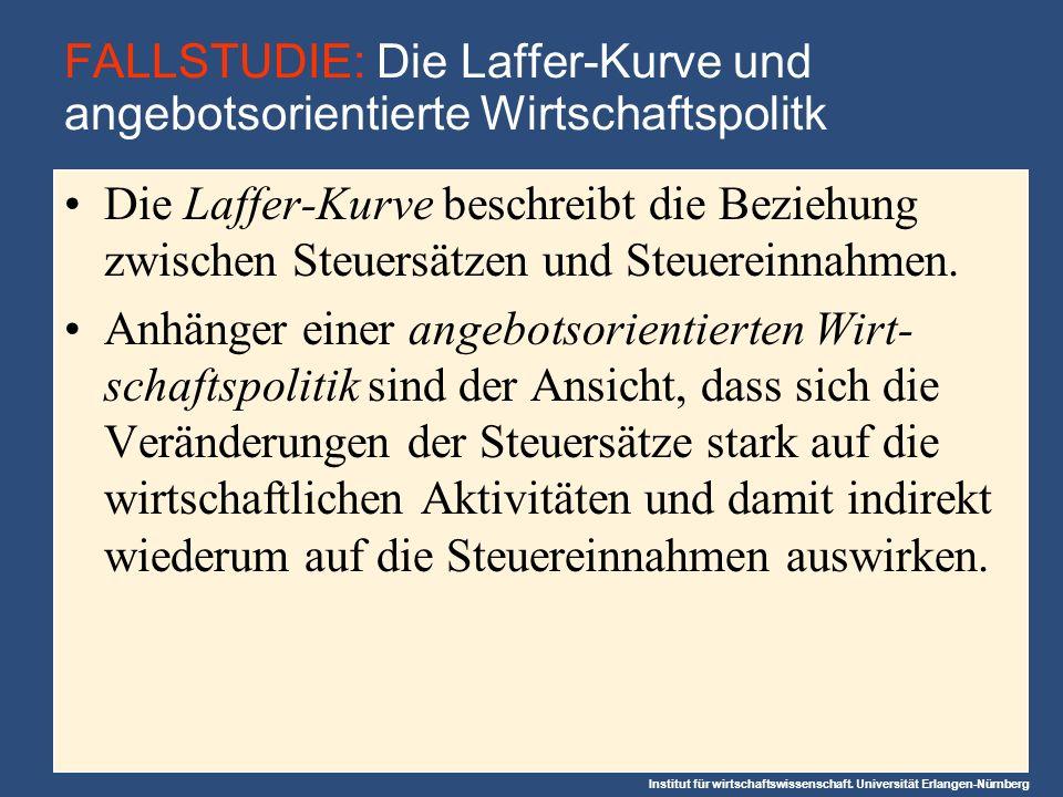 FALLSTUDIE: Die Laffer-Kurve und angebotsorientierte Wirtschaftspolitk