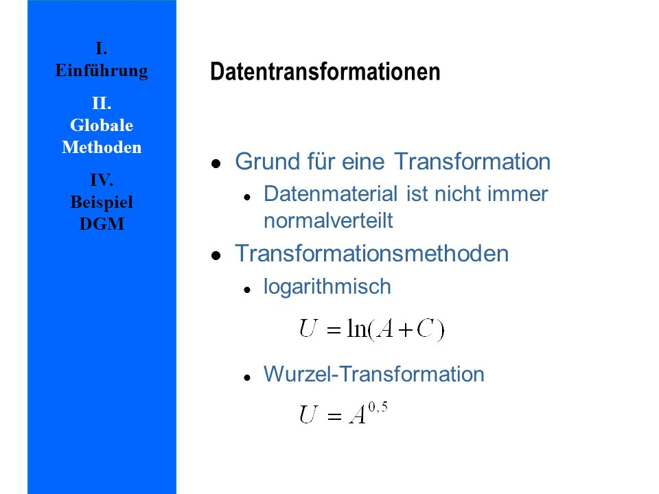 Datentransformationen
