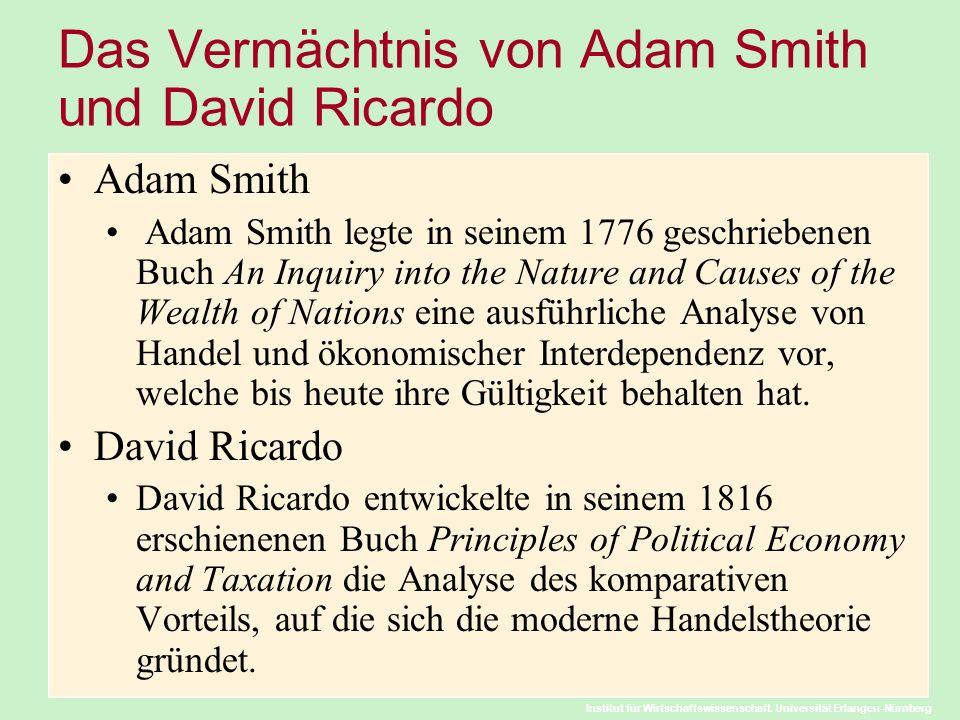 Das Vermächtnis von Adam Smith und David Ricardo