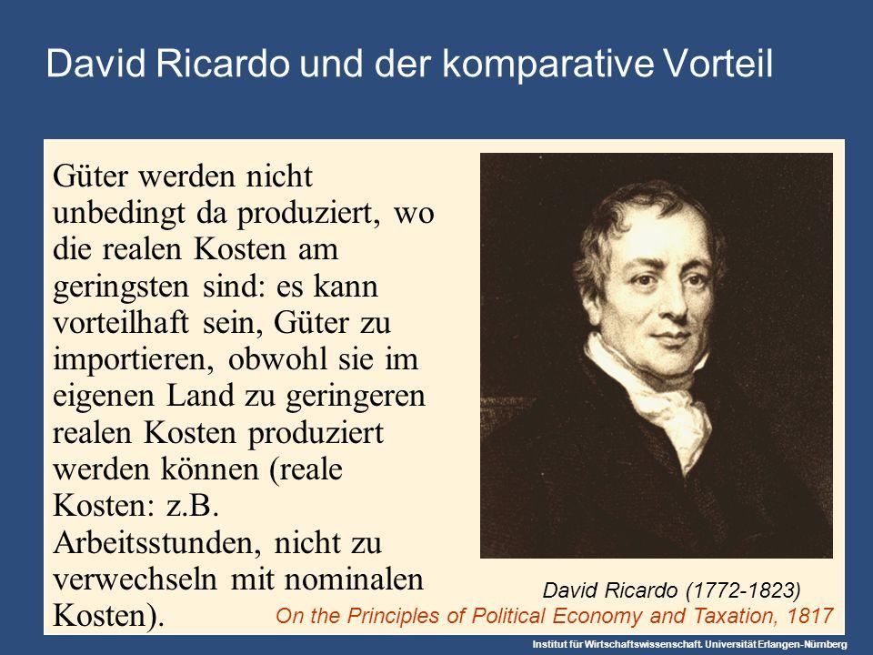 David Ricardo und der komparative Vorteil