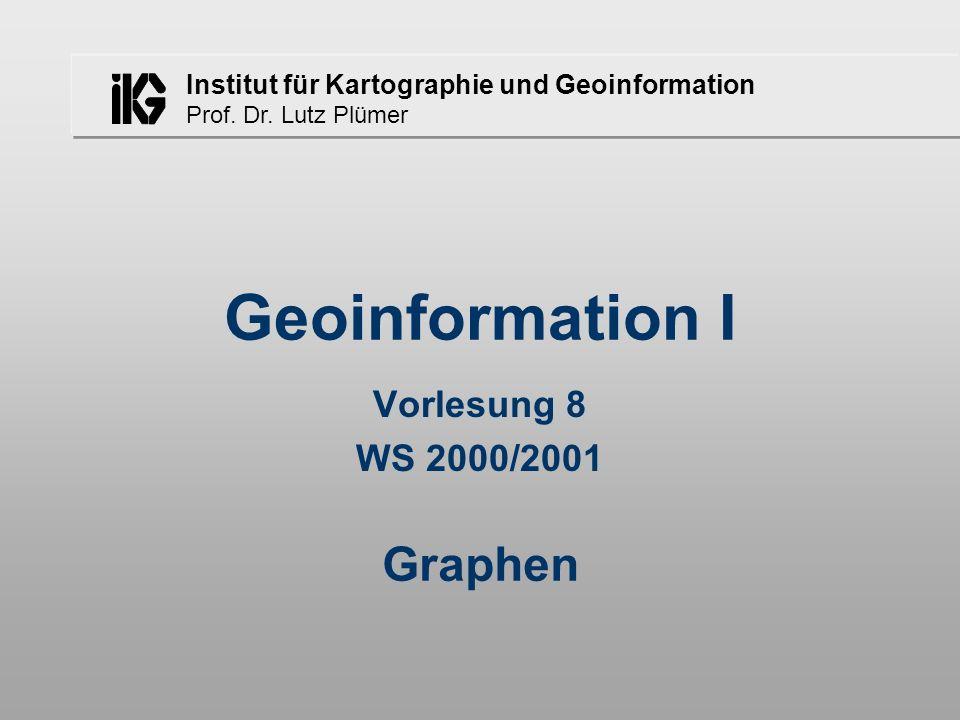 Geoinformation I Vorlesung 8 WS 2000/2001 Graphen