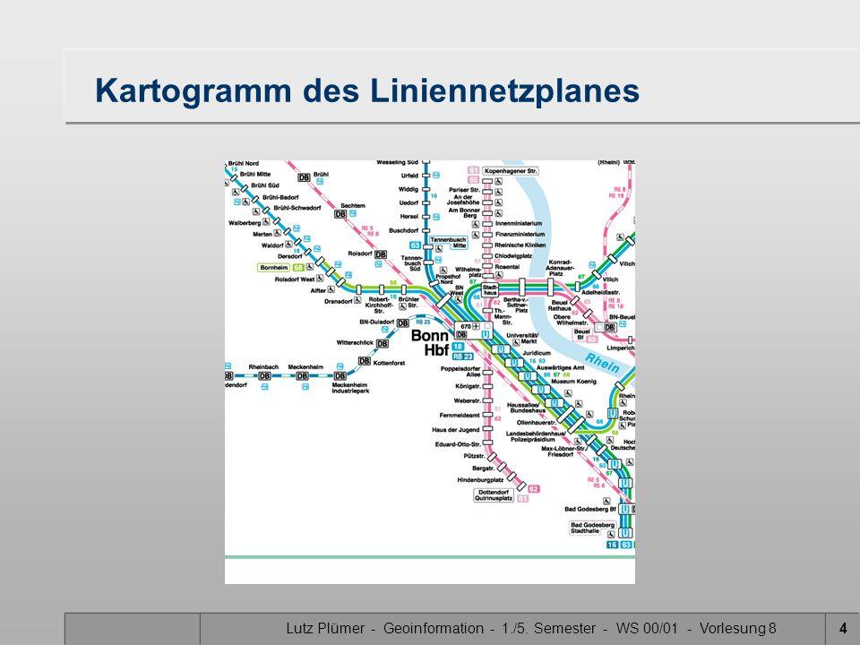 Kartogramm des Liniennetzplanes